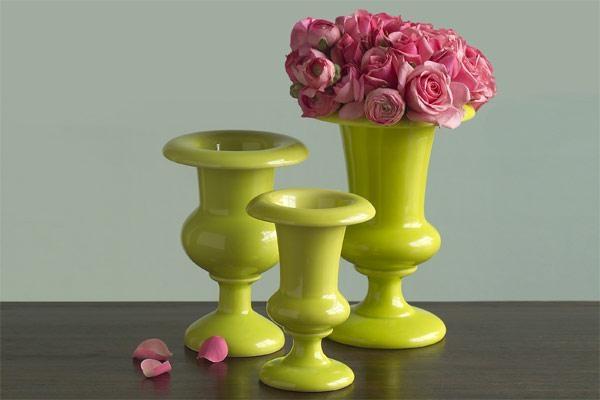 вазочки в цвете лайм