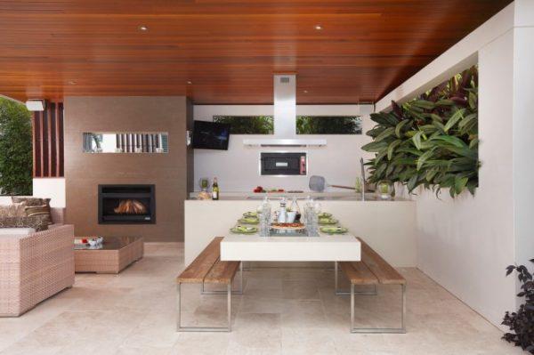 открытая кухня на даче
