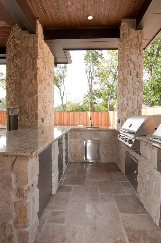 кухня на даче с барбекю