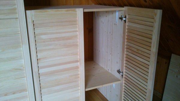 шкаф из мебельных щитов