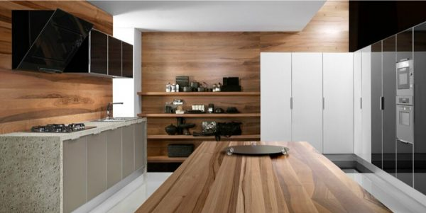 кухня из мебельных щитов