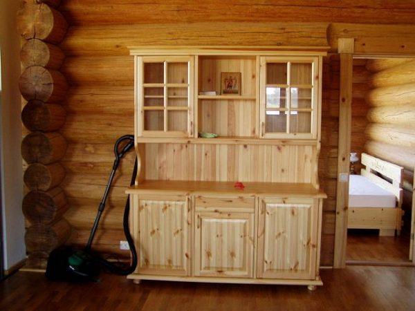 кухонный шкаф из мебельных щитов