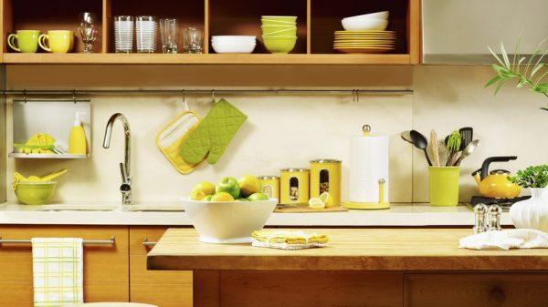 Кухня оливковая в стиле