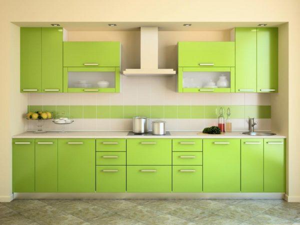 кухонный гарнитур оливковый