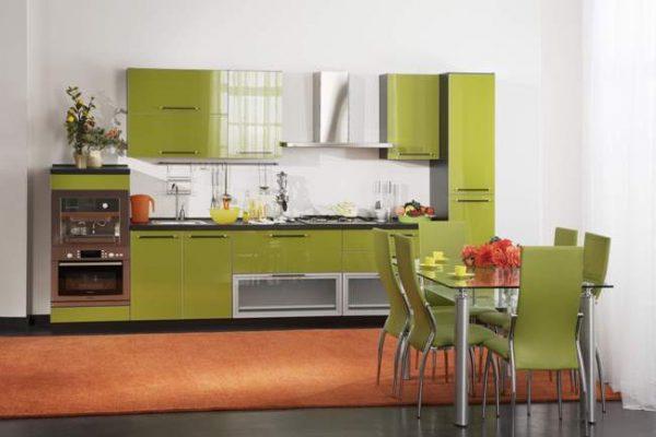 оливковый на кухне