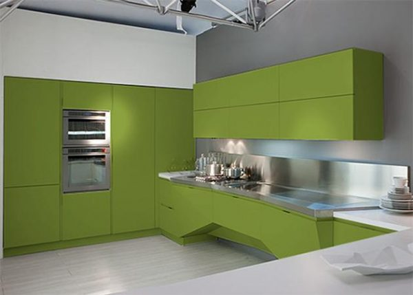 оливковый цвет на кухне