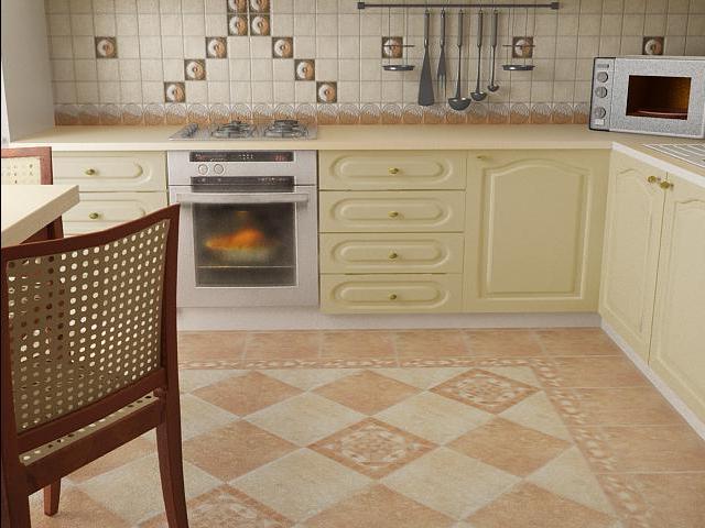Дизайн плитка для пола на кухню и цены