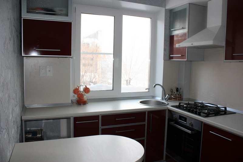 ремонт в кухне 6 кв м фото