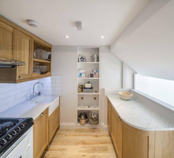 ремонт кухни 6 кв. метров под крышей