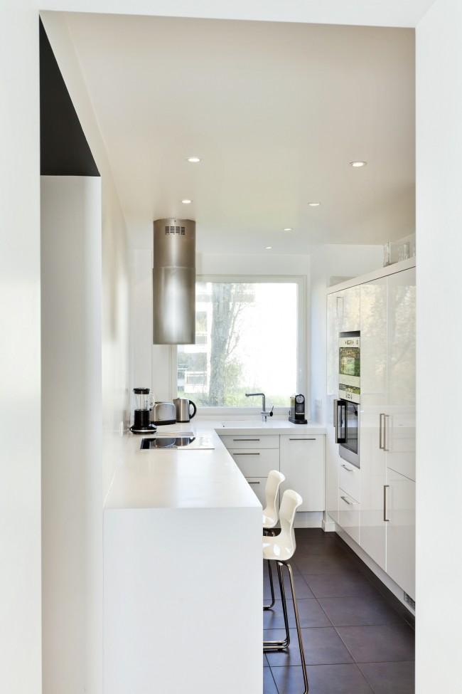 ремонт белой кухни 6 кв. метров