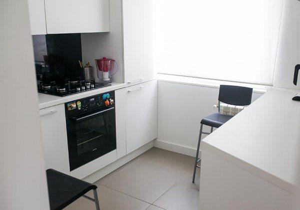 ремонт кухни 6 кв. метров в стиле модерн