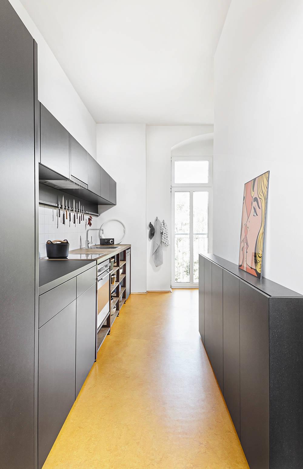 ремонт узкой кухни 6 кв. метров