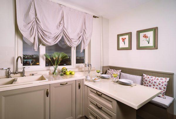 ремонт кухни 6 кв. метров с диваном