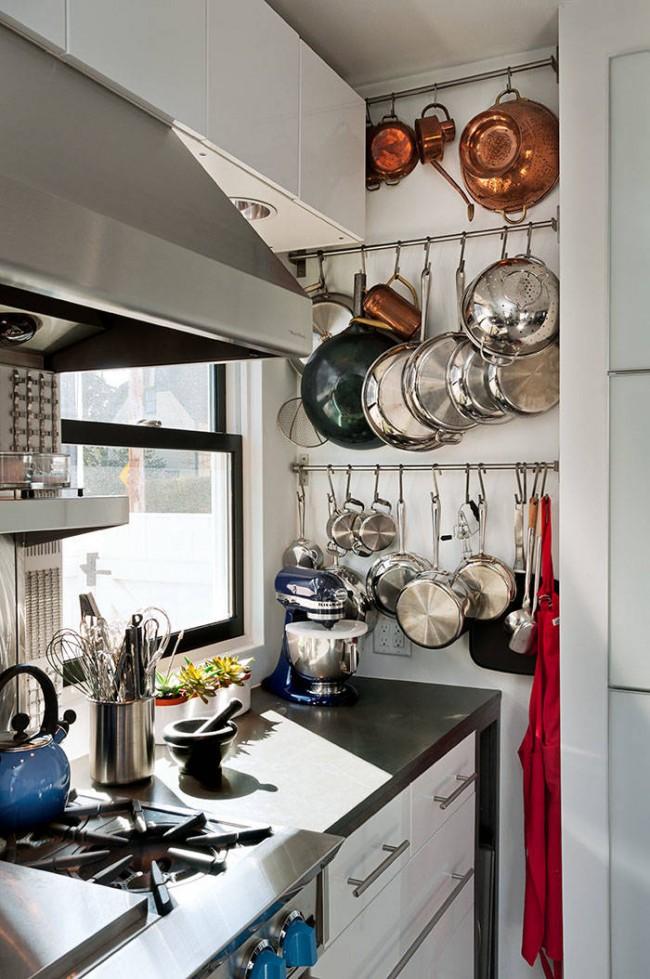 ремонт кухни 6 кв. метров с рейлингами