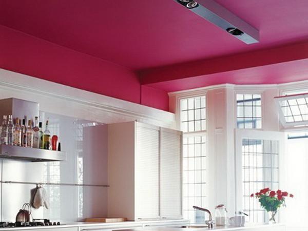Краска для потолка на кухне