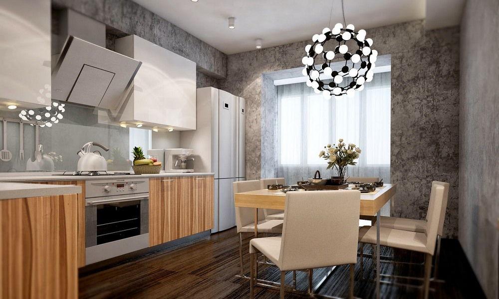 ремонт кухни - штукатурка на стенах