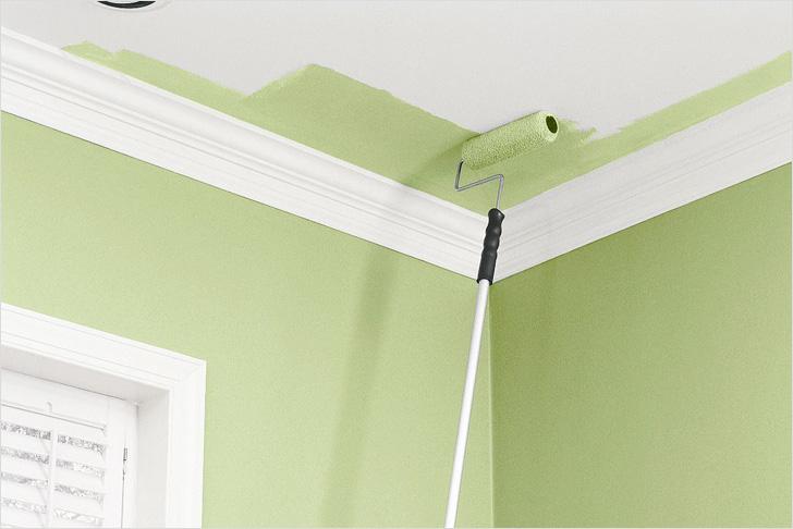 ремонт кухни - окраска стен и потолка