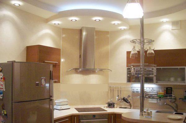 ремонт кухни - гипсокартон на потолке