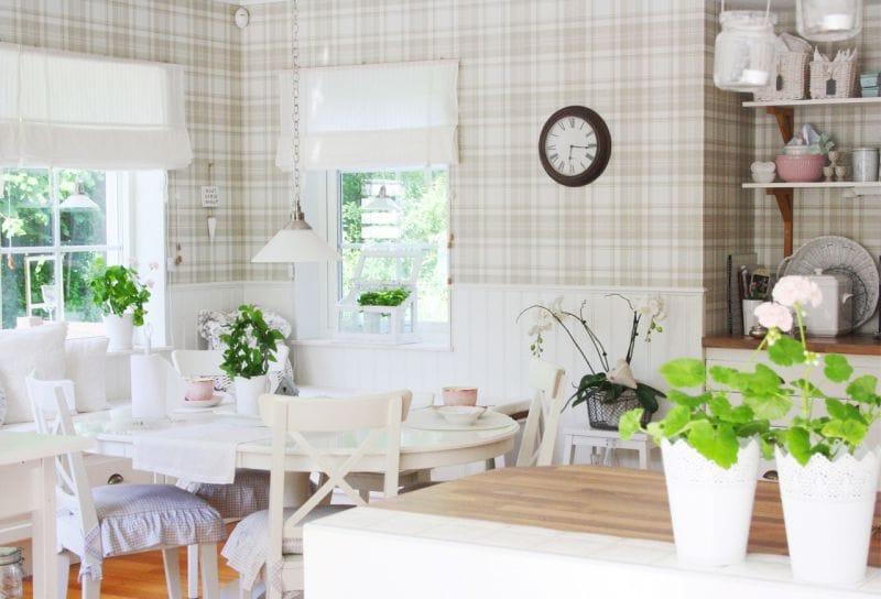 Римские шторы для кухни — 50 фото интерьеров