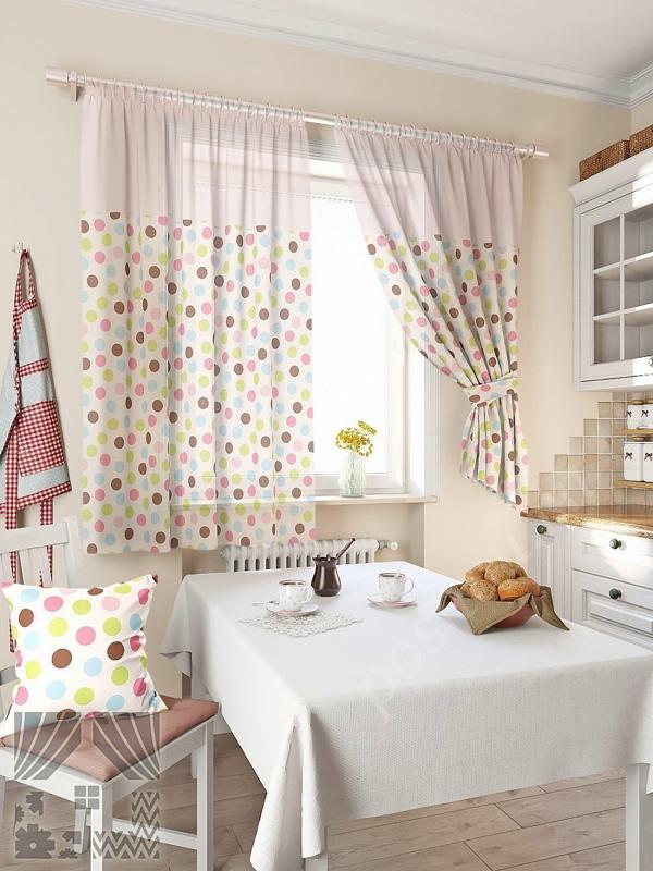 лёгкие шторы для кухни своими руками