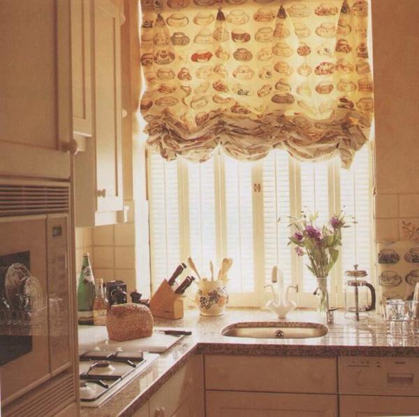 австрийские шторы для кухни своими руками