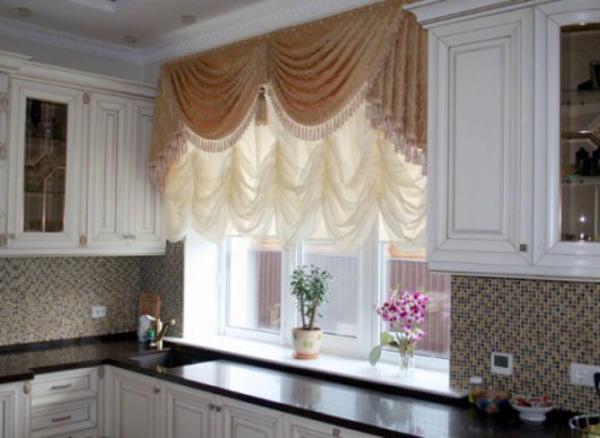 короткие шторы для кухни своими руками