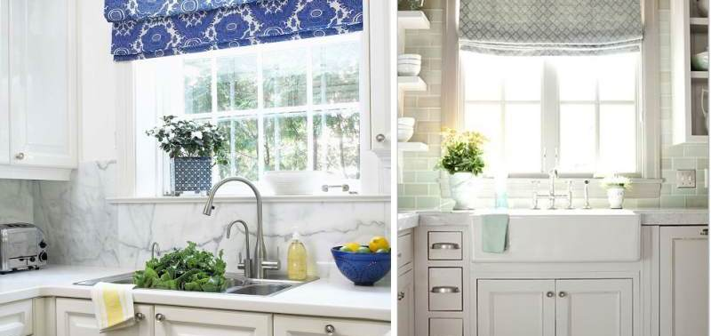 Шторы для кухни своими руками с выкройками — фото идей