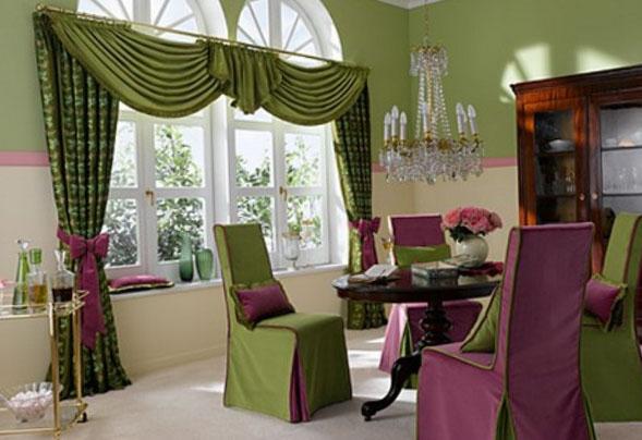 стильные шторы в интерьере кухни