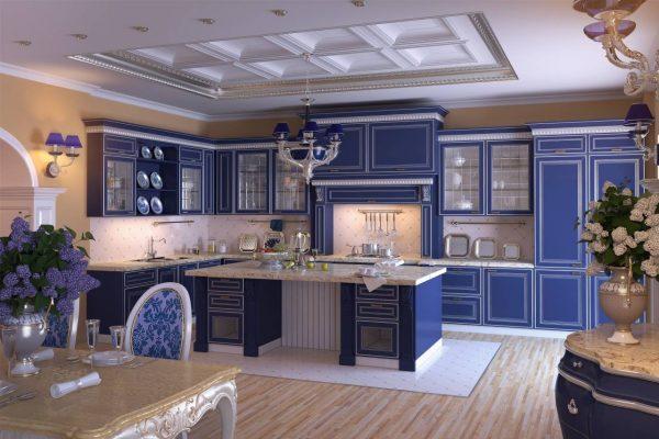 синяя классика на кухне