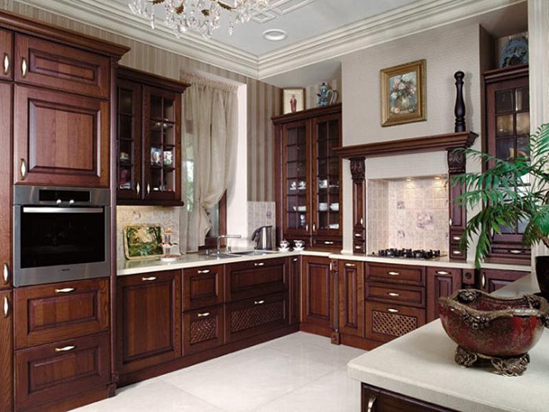 Дизайн коричневой классической кухни фото 2015 современные идеи