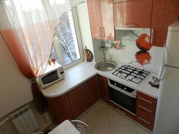 ремонт угловой кухни 6 кв. метров