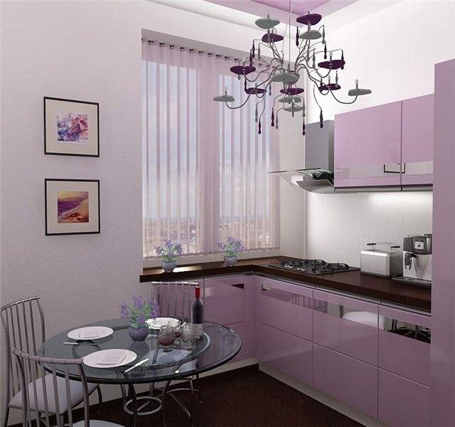 кухни фото дизайн сиреневые