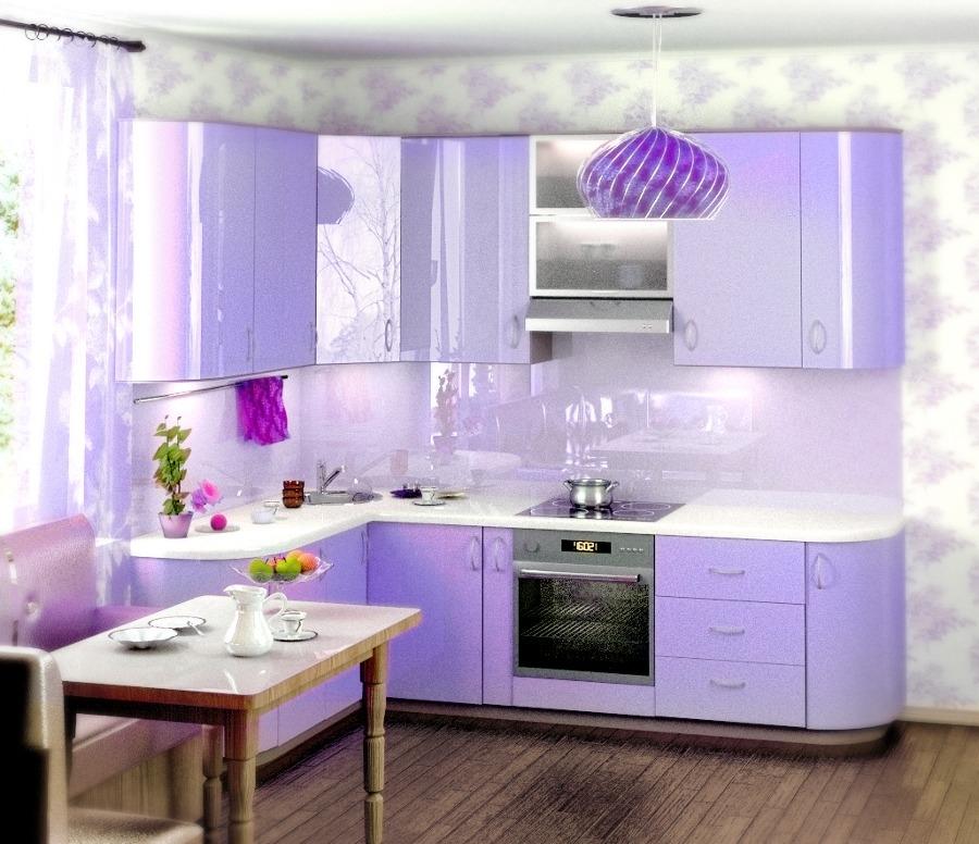 Светло-фиолетовый декор