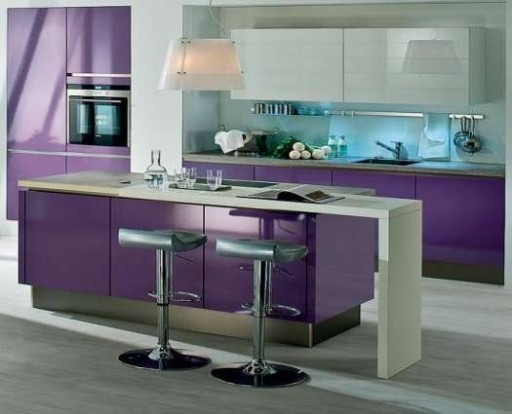 сиреневый дизайн кухни
