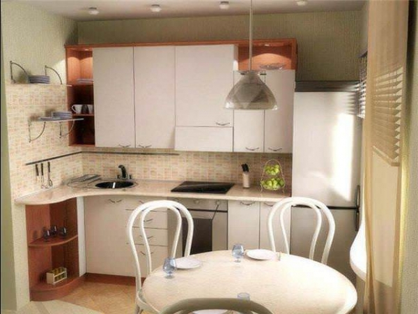 Как расставить мебель в маленькой кухне: экономим пространство