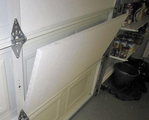 Как утеплить гаражные ворота пенопластом